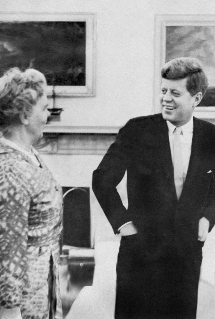 Dr. Janet Travell, expert on the Morton's Toe  and her patient President Kennedy, white house April 1961