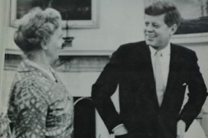 President Kennedy &  Dr. Janet Travell,  White House 1961