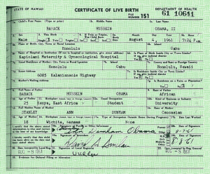 Birth Certificate of Barack Obama Dated August  4 1961, same day Gideon was found guilty in Panama City. Discovery by Dr. Burton S. Schuler, podiatrist,  foot doctor,  Panama City fl.    In a strange twist of faith  August 4, 1961 was also  Dr. Burton S. Schuler's 11tth birthday